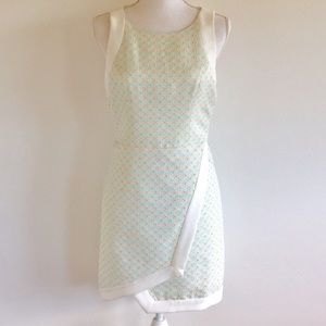 Adelyn Rae Anthropologie Textured Mint Wrap Dress
